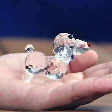 Clear Artificial Crystal Glass Dog Paperweight Crafts Table Home Decoration Gift