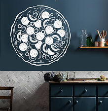 Vinyl Wall Decal Italian Food Pizza Kitchen Restaurant Italia Pizzeria (ig4329)