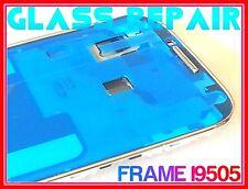 CORNICE ARGENTO FRAME TELAIO FRONTALE +BiADESIVO x SAMSUNG GALAXY S4 I9505 I9515