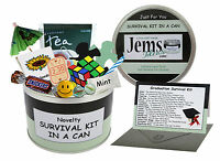 GRADUATION SURVIVAL KIT IN A CAN. Novelty Congratulations Gift Card Fun Present