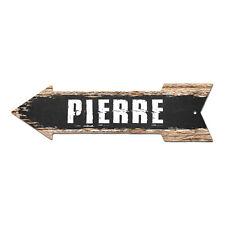 AP-0268 PIERRE Arrow Street Tin Chic Sign Name Sign Home man cave Decor