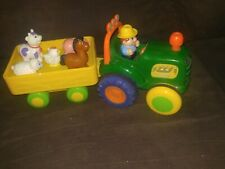 Kiddleland Old Mcdonald Farm Tractor/ trailer Motion & Sounds+5 animals COMPLETE