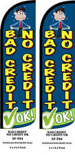 BAD CREDIT NO CREDIT TWO (2) SWOOPER FEATHER FLAG KITS WITH HARDWARE