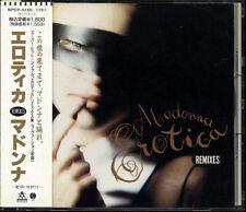 MADONNA Erotica Remixes JAPAN Single CD 7 Tracks 1992 W/Obi WPCR5150 W/Obi RARE!