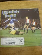 22/10/1975 Ipswich Town v Club Brugge [UEFA Cup] (Folded, Creased). Any faults a