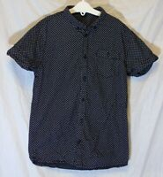 Boys George Black White Spot Smart Casual Short Sleeve Shirt Age 10-11 Years