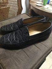 Blue David Eden Men Genuine Crocodile Shoes 8.5D