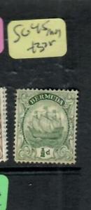 BERMUDA  (P2507B) BOAT   1/2D       SG 45     MOG