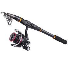 Telescopic Fishing Rod Combo 2.1M-3.6M Spinning Reel 5.2:1 Freshwater Saltwater