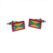 Grenada Flag Cufflinks & Gift Pouch