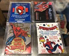Lot 4 MARVEL UNIVERSE trading card packs SPIDERMAN Skybox McFarlane Comic images