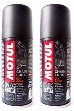2 x 100 ml Motul C3 cadena Lube De Carretera Grasa moto spray enduro cross