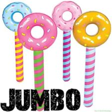 (12) JUMBO ~ Inflatable Donut Lollipop Wonka CANDYLAND Pool Float Party Toys