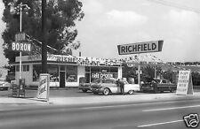 RICHFIELD STATION BORON GAS PONTIAC 1950's GRAND OPENING free chicken w fill's