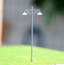 15 pcs HO/OO Model Lamppost Metal Street Light warm white LED Made Lamp #614