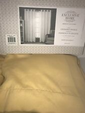 """Exclusive Home Solid Cabana Curtain Panel Pair Grommet 52""""x 84"""" Taupe 2 Panels"""
