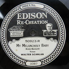 Walter Scanlan - EDISON 50923 - My Melancholy Baby & The Mill by the Sea