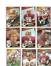 WASHINGTON REDSKINS 1984 TOPPS TEAM SET DARRELL GREEN & RUSS GRIM ROOKIE CARDS