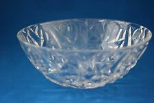 "TIFFANY & CO. ROCK CUT CRYSTAL 9"" BOWL"