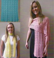 SAVE 50%  EASY LACE SCARVES & WRAPS to KNIT by BEV GALESKAS FIBER TRENDS