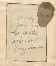 Muzzy Marcellino Hand Signed Vintage Album Page