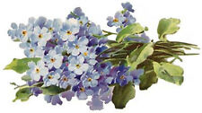 VinTaGe ImaGe BeauTiFuL BluE ForGeT Me NoTs ShaBbY WaTerSliDe DeCals