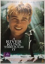 A RIVER RUNS THROUGH IT / ORIGINAL VINTAGE VIDEO FILM POSTER / BRAD PITT 5