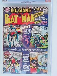 Batman # 185 CGC 8.5 White Pages 80 Pg. Giant DC Silver Age 1966 ! ! !