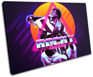 80s Retro Rocky Iconic Celebrities SINGLE CANVAS WALL ART Picture Print