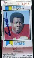 Emmitt Thomas  JSA Coa Autograph 1973 Topps Rookie Hand Signed