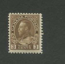 1918 Canada 3 Cent Postage Stamp #108 Mint Never Hinged F/VF Original Gum