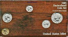 1985 P & D US Mint Set ☆☆ 10 Coins ☆☆ Envelope/COA ☆☆ Blister Packs