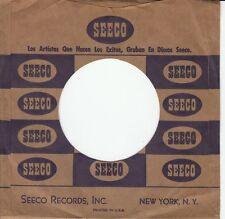Company Sleeve 45 Seeco - Brown W/ Blue Text & Logos