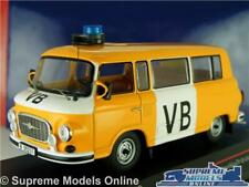 BARKAS B1000 VB MODEL VAN MINIBUS 1975 CZECH POLICE 1:43 SCALE IST049 IST IXO K8