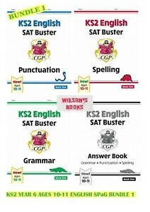 KS2 SAT BUSTER YEAR 6 AGES 10-11 SPELLING PUNCTUATION GRAMMAR SET 1 (4 BOOKS)