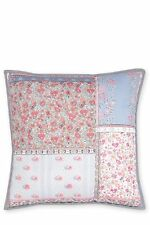 BRAND Mew With Tags NEXT Quilted Floral Pink Blue Patchwork Cushion 43 X 43 Cm