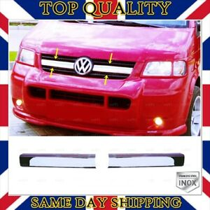 Chrome Front Grill 2 pcs S.STEEL For VW T5 Transporter From 2003 to 2009