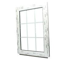 Kunststoff Fenster mit Sprossen 18mm - 9 Glas Felder Dreh/Kipp 2fach Glas
