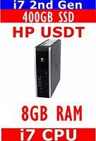 HP 8200 i7 USFF 400GB SSD 8GB RAM WINDOWS 10 WIFI READY CAN SUPPORT 2 MONITORS