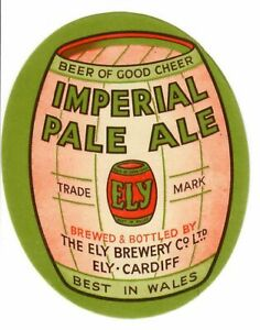 Beer Label: Ely Brewery, Cardiff, Imperial Pale Ale 79mm tall