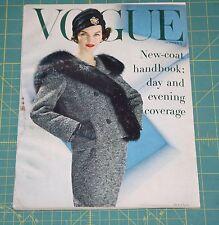 October Vogue 1956 Rare Vintage Vanity Fair Fashion Design Collection Magazine