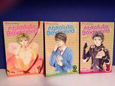 Absolute Boyfriend Volume 1 - 3 Manga Shojo Beat By Yu Watase Viz Media