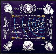 (Ref-10166) Bulgaria 1986 Miniature Sheet - Path of Hayleys Comet   Used  (CTO)