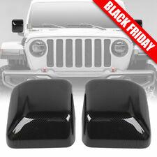 For Jeep Wrangler JL Exterior Right & Left Mirror Cover Accessories Carbon Fiber