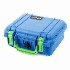 Blue & Lime Green Pelican 1200 Case with Foam.