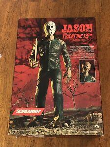 Vintage 1988 Jason Model Kit Friday The 13th Screamin' Unbuilt Complete 1:4