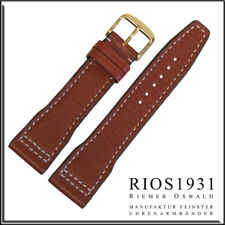 22x18 mm RIOS1931 for Panatime - Cognac Typhoon - Leather Watch Band For IWC