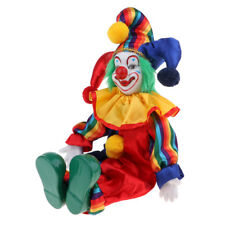 Handmade Clothing Clown Porcelain Doll Halloween Ornaments Gifts 38cm #1