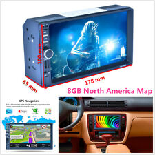 "7"" 2DIN Touch Screen Car MP5 Player GPS Nav FM Bluetooth RDS Radio AUX & 8GB Map"