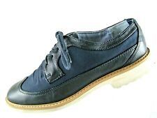 TOMMY HILFIGER Blue Leather/Canvas Casual Shoes size 7.5 M